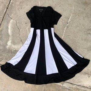 Black and White Connected Apparel Dress - Size 12